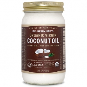 Dr. Bronner's Magic Soap 닥터 브로너스 Whole Kernel Organic Virgin Coconut Oil 오가닉 버진 코코넛 오일 414ml