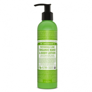 Dr. Bronner's Organic Lotion For Hands & Body  Patchouli Lime (237 mL) 파춀리 라임 오가닉 핸드&바디 로션