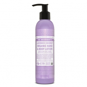 Dr. Bronner's Organic Lotion For Hands & Body  Lavender Coconut (237 mL) 라벤더 코코넛 오가닉 바디&핸드 로션