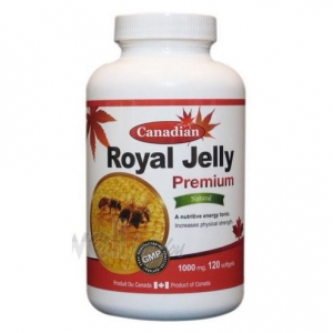 David Health - Canadian- Royal Jelly 1000mg 60Softgels -데이비드 헬스- 캐나디언 - 로얄젤리 -1000mg 60Softgels